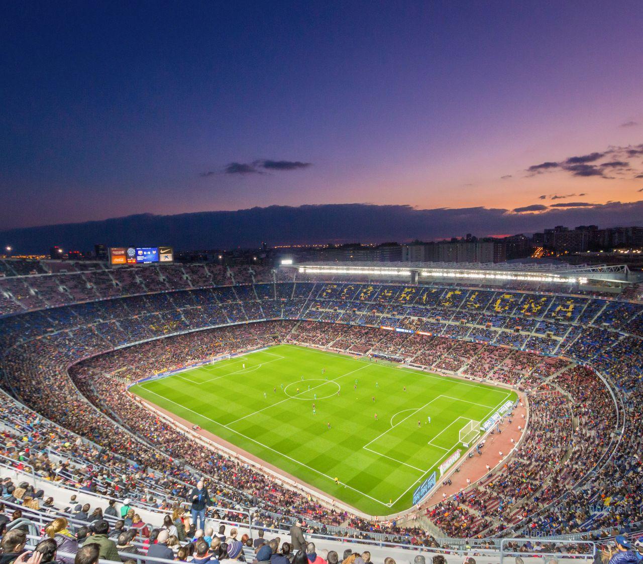 Camp Nou ist das größte Stadion Europas und Heimat des FC Barcelona