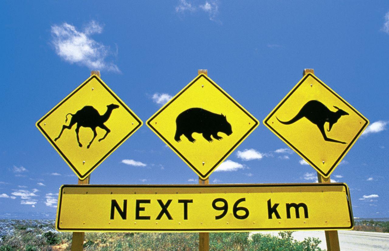 Strassenschild Australien