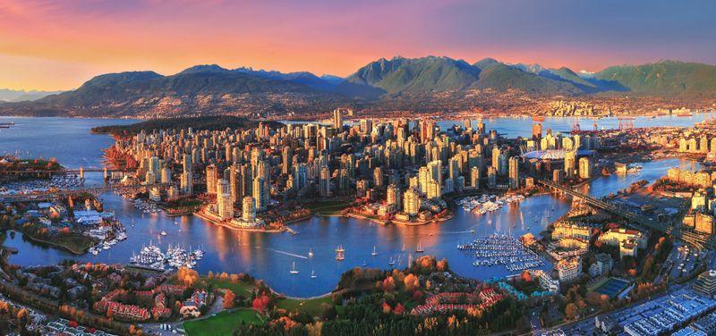 Drohnenansicht von Vancouver