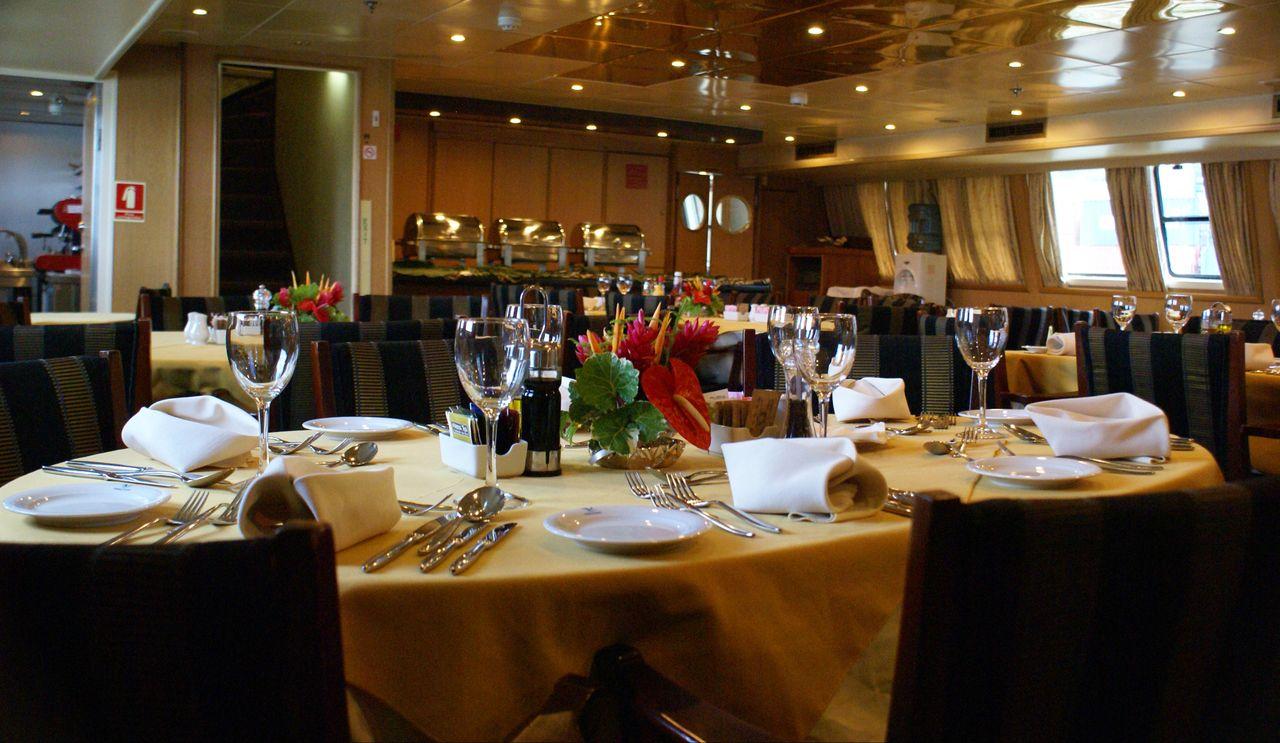 Seychellen Kreuzfahrt Bordrestaurant