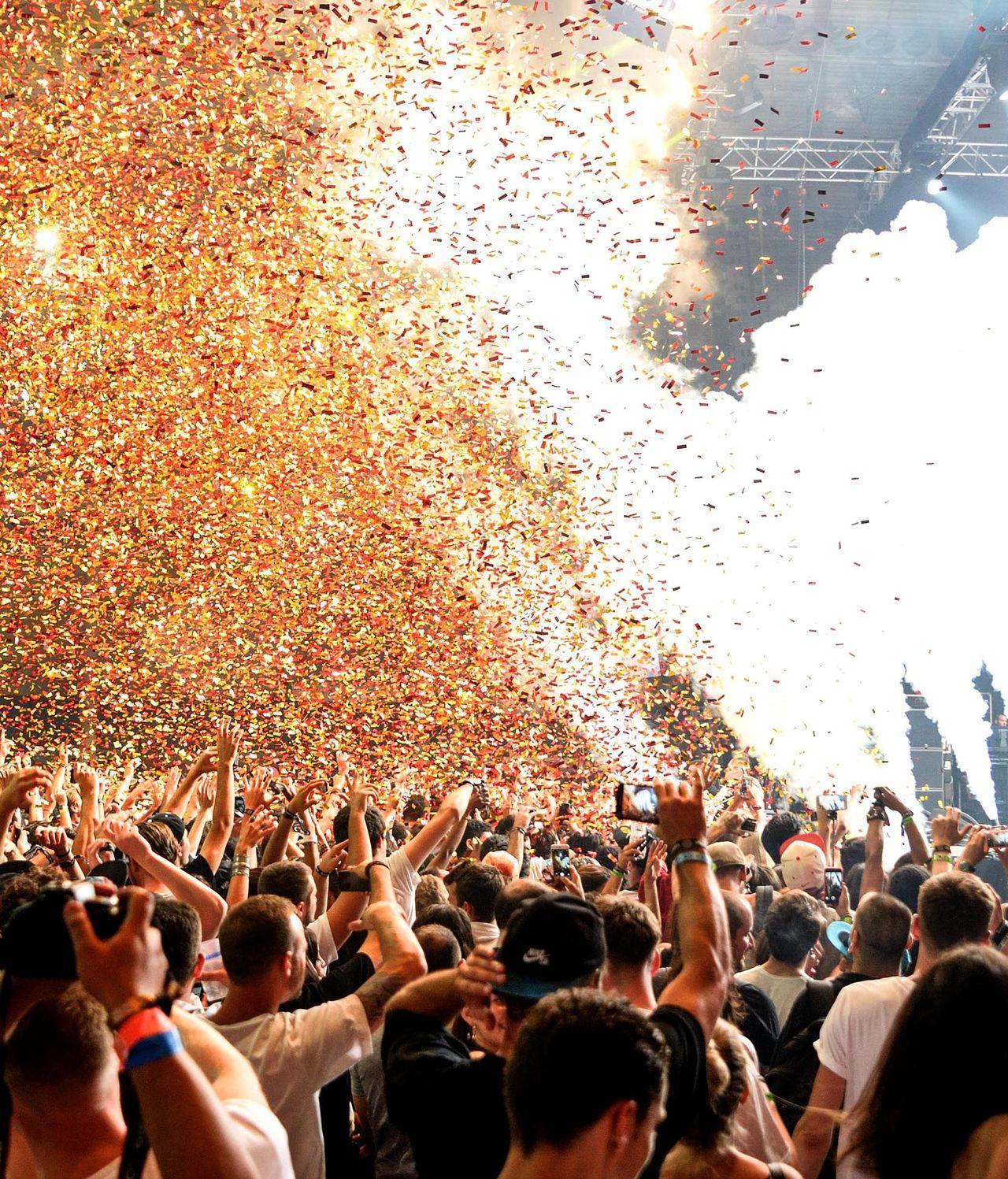 Partystimmung beim Musikfestival Sónar, Barcelona