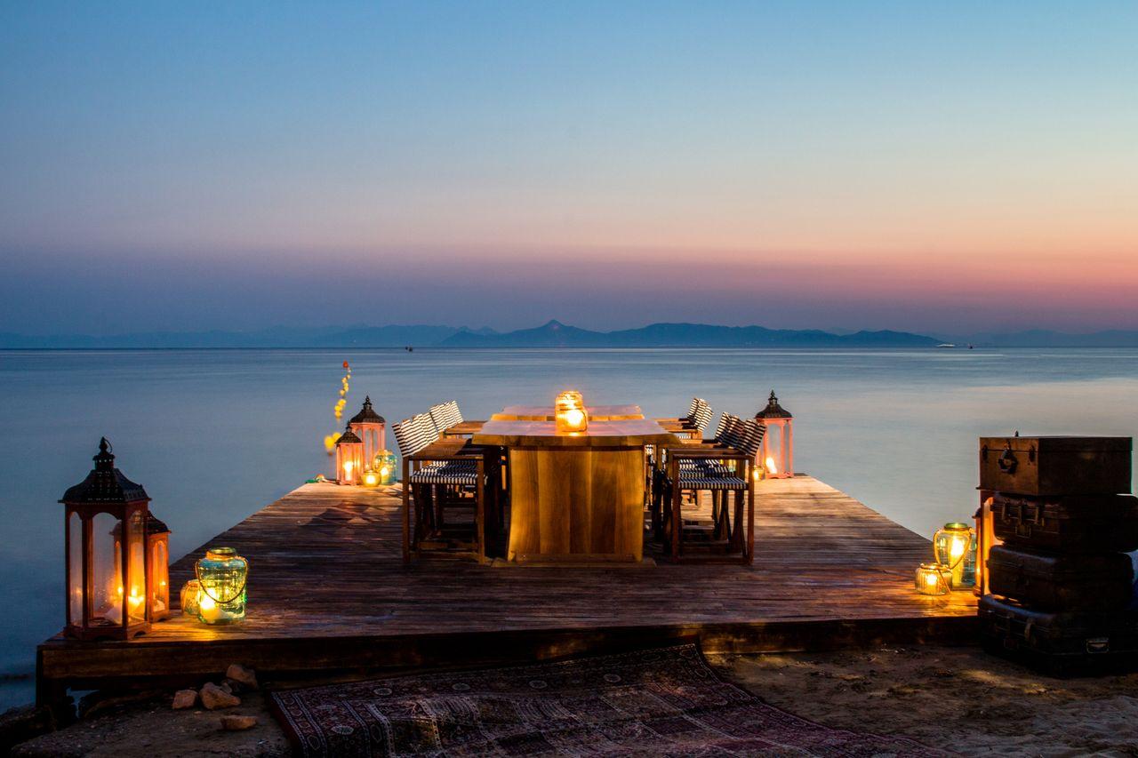 Luxus Dinner am Strand