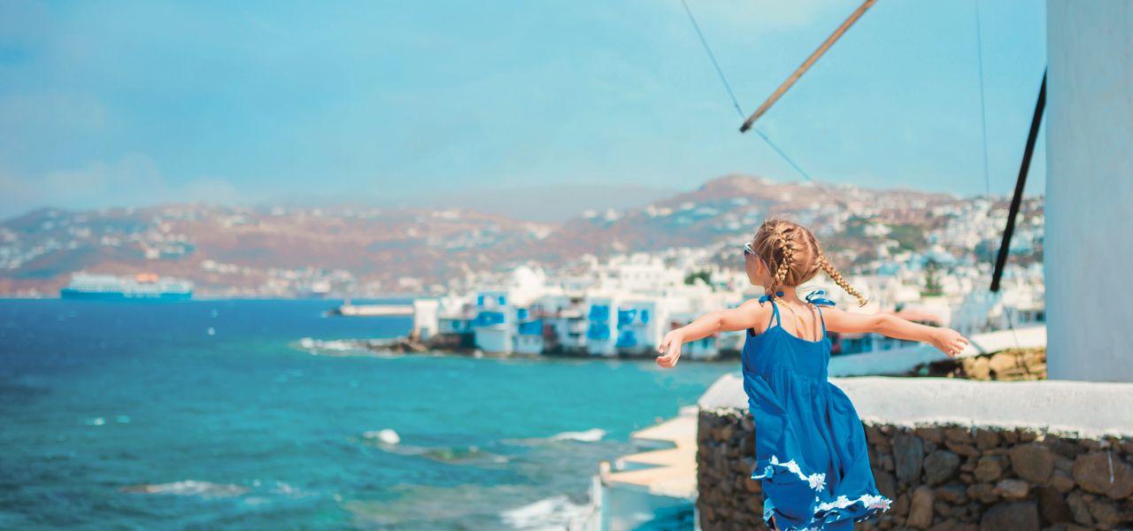 Griechenland Urlaub Maedchen