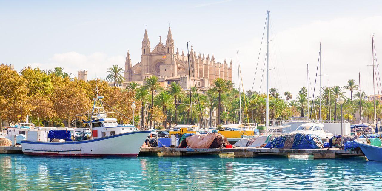 Imposante Kathedrale Le Seu in Palma, Mallorca