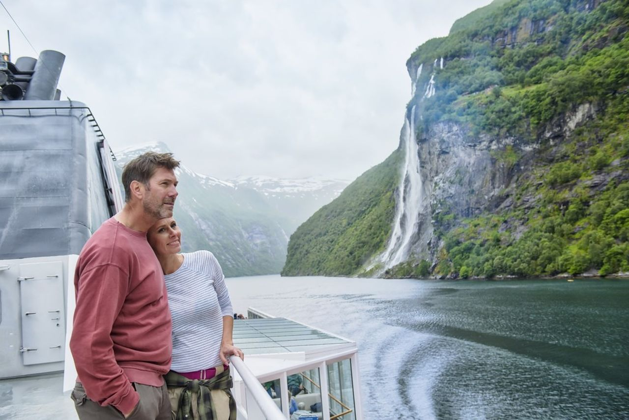 Geirangerfjord onboard MS Polarlys